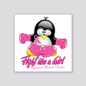 "BC-Fighting-Penguin Square Sticker 3"" x 3"""