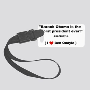 1ben quayle 2dluvw Small Luggage Tag