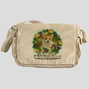 Merry Christmas Corgi Messenger Bag