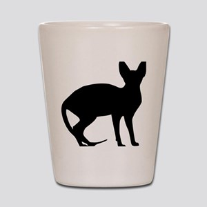 cat_sphynx Shot Glass