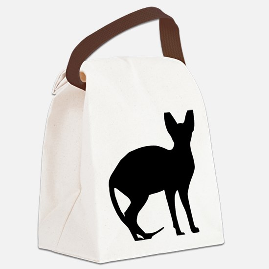cat_sphynx Canvas Lunch Bag