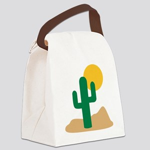 desert_cactus Canvas Lunch Bag