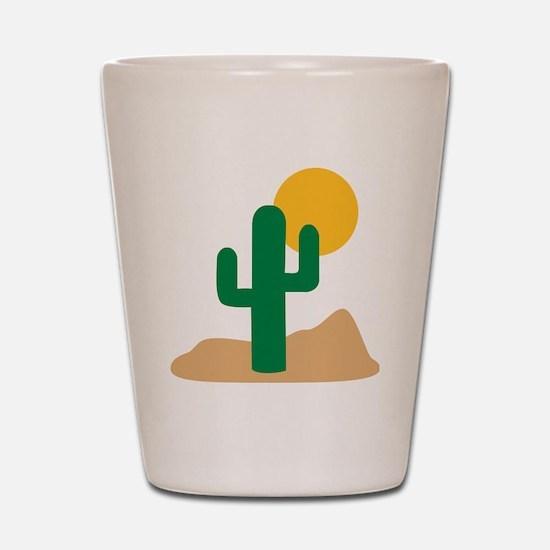 desert_cactus Shot Glass