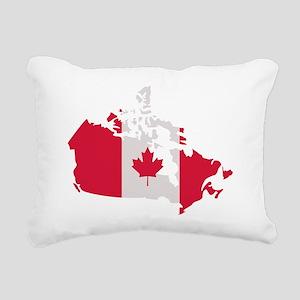 canada_map_flag Rectangular Canvas Pillow