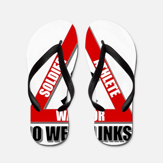 SoliderAthleteWarrior-NoWeakLinks-Red Flip Flops