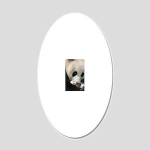 Ma Panda slider 20x12 Oval Wall Decal