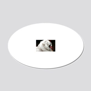 White Lion greeting 20x12 Oval Wall Decal