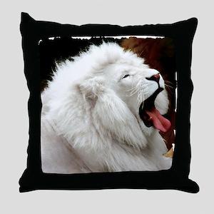 White Lion shirt Throw Pillow
