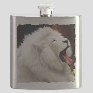 White Lion shirt Flask
