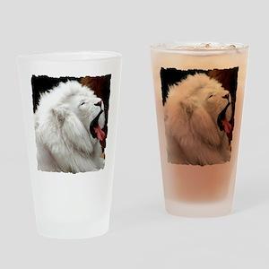 White Lion shirt Drinking Glass