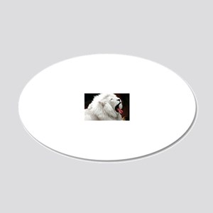 White Lion note 20x12 Oval Wall Decal