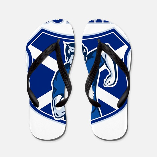 rugby player running shield scotland fl Flip Flops