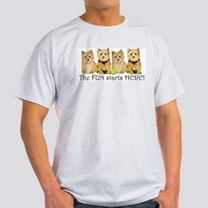 Norwich Terrier Fun Ash Grey T-Shirt