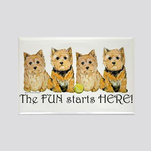 Norwich Terrier Fun Rectangle Magnet