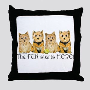 Norwich Terrier Fun Throw Pillow