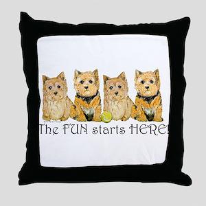 Norwich Terrier Fun Throw Pillow