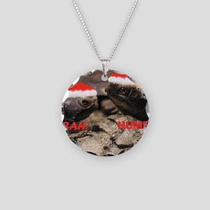 BAH HUMBUG22 Necklace Circle Charm