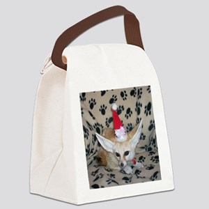 Holiday Fox Canvas Lunch Bag