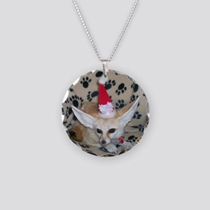 Holiday Fox Necklace Circle Charm