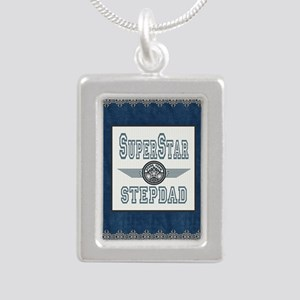 Blanket Blue Jean supers Silver Portrait Necklace