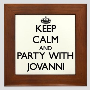 Keep Calm and Party with Jovanni Framed Tile