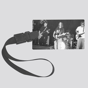 APblackwhiteL Large Luggage Tag