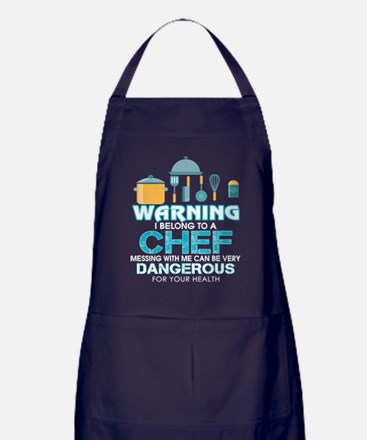 Don't Messing With A Chef T Shirt Apron (dark)