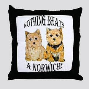 Nothing Beats a Norwich Terri Throw Pillow