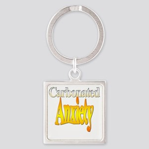 Carbonated-Anxiety Square Keychain