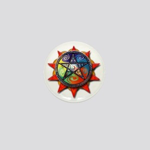 4 elements pentacle red Mini Button