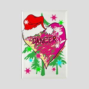 dancer scribble heart christmas s Rectangle Magnet