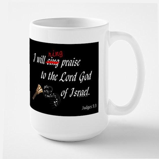 Ring Praise Black Large Mug