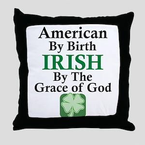 Irish-Grace Of God Throw Pillow