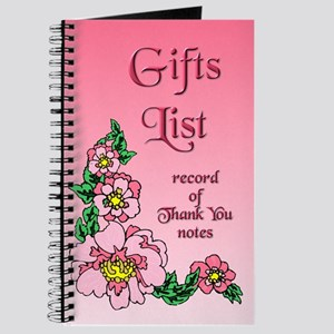 Gifts List (pink) Journal