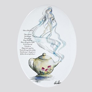 Ode to a Teapot Oval Ornament