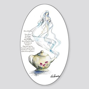 Ode to a Teapot Sticker (Oval)