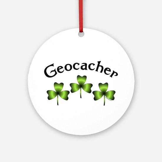 Geocacher 3 Shamrocks Ornament (Round)