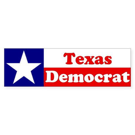 Texas Democrat Bumper Sticker