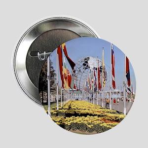 """1964 World's Fair/Unisphere 2.25"""" Button"""