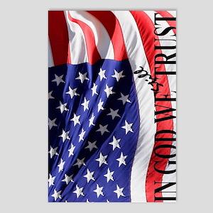 USA Flag: IN GOD WE Still Postcards (Package of 8)