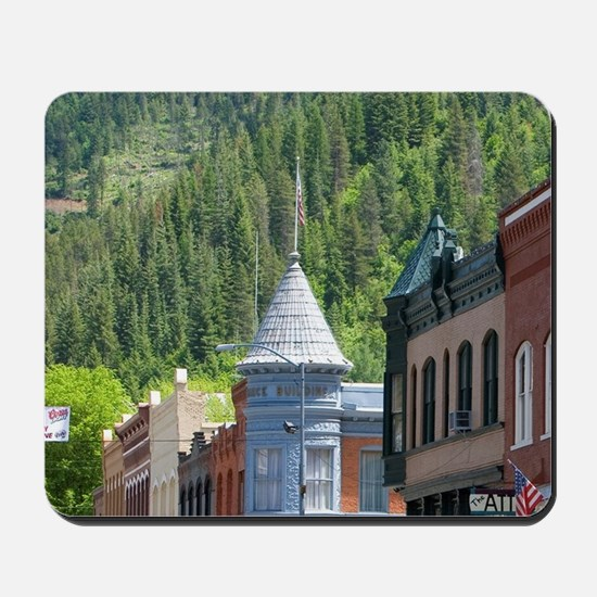 Main street in the small town of Wallace Mousepad
