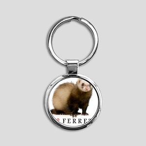 ferretiphonecase Round Keychain