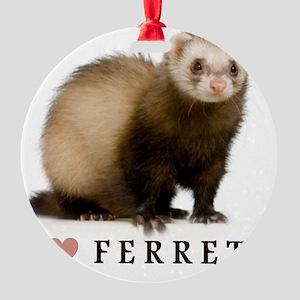 ferretiphonecase Round Ornament