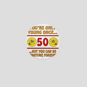 Immature50 Mini Button