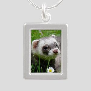 ferretiphonecase3 Silver Portrait Necklace