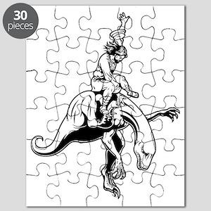 jesus-raptor-bw-T Puzzle