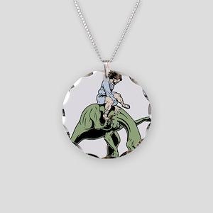 jesus-raptor-col-T Necklace Circle Charm
