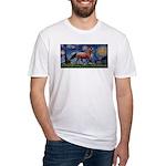 Starry Night Quarterhorse Fitted T-Shirt