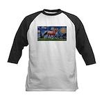Starry Night Quarterhorse Kids Baseball Jersey