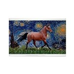 Starry Night Quarterhorse Rectangle Magnet